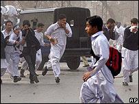rioters in Peshawar