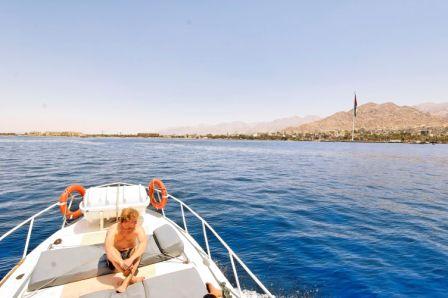 Aqaba, Gulf of Aqaba on the boat