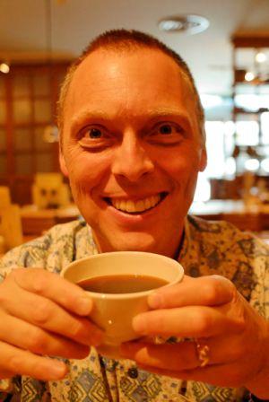 Ian with coffee