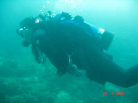 Ian in the water