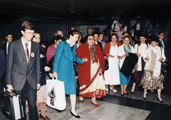 Shri Mataji at Airport